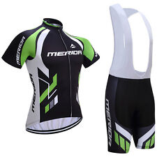 2017 Merida Cycling Team Kit Short Sleeve Bike Clothing Jersey Bib Shorts Set