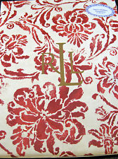 Ralph Lauren Tablecloth Bluff Point Floral Red 100% Cotton Assorted Sizes