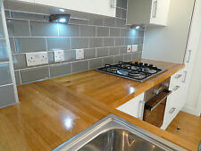 Solid Oak Worktop, 38mm staves, Solid Wood, Timber, Free Delivery!!