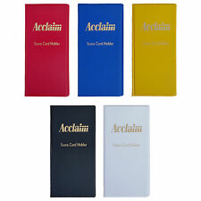 ACCLAIM Scorecard Holders Bowlers Large Plastic Blue Black Red With Metal Clip