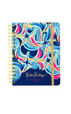 New Lilly Pulitzer 2016-2017 LARGE 17 MONTHS  AGENDA in MULTI OCEAN JEWELS RARE