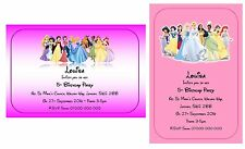 Disney Princesses Girls Personalised Party Invitations Thank You A6 Glossy + Env