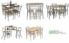 Dining Table And Chairs Set Kitchen Furniture Bistro Breakfast Bar Space Saving