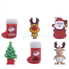 Christmas Deer Snowman USB 2.0 Flash Memory Stick Pen Drive Storage Thumb U Disk
