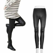 Fashion Style Tights Women Sexy Wet Look Shiny PU Leather  Pants L3