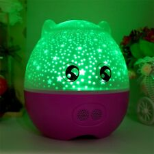Rotating Projection Lamp Star Master LED Night Light With Speaker Gift O6