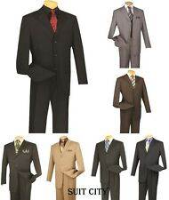 Men's Suit Single Breasted 3 Buttons 2 Piece Classic Fit Solid Colors VINCI 3RS