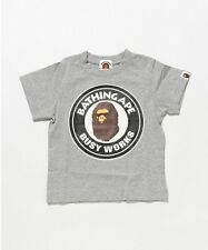 A BATHING APE BUSY WORKS TEE 4 colors Print BAPE Kids cotton T-shirt From Japan