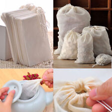 10/50/100 Pack 8x10cm Natural Cotton Muslin Drawstring Reusable Bags Soap Herbs