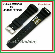 20MM & 22MM BLACK ND TIME, N.D. LIMITS DIVERS WATCH STRAP. POLYURETHANE RUBBER.