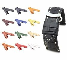 BOB Alligator Style Deployment Strap/Band for Panerai, 24/22 mm, 12 colors, new!