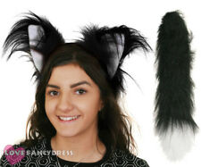 DELUXE CAT EARS AND TAIL SET SCHOOL BOOK WEEK FANCY DRESS COSTUME ACCESSORY KIT