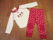 NWT GYMBOREE BABY UNISEX 2 PIECE SNUGGLE BEAR OUTFIT-SZ 0-3 MO,3-6 MO,12-18 MOS.