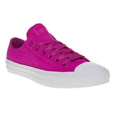 New Womens Converse Pink Chuck Taylor All Star II Low Textile Trainers Canvas
