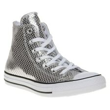 New Womens Converse Metallic All Star Hi Leather Trainers Animal Lace Up