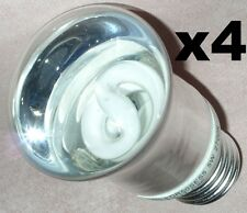 4 x SCREW FIT ENERGY SAVING REFLECTOR BULBS R50 5W warm white ~ efficient ~ E27