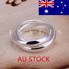925 Silver Anniversary Plated Round Ring Wedding Engagement Ring Jewelry Gifts