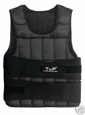 TnP Weight Weighted Vest Adjustable 5kg To 30kg Running Weight Loss - Black