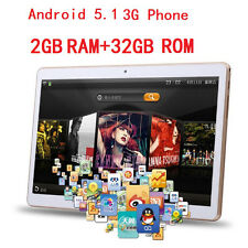 "10"" Google Android 5.1 Dual SIM Camera Wifi Bluetooth 2+32GB Quad Core Tablet PC"
