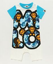 A BATHING APE ABC CAMO FONT MILO ROMPERS 3 colors BAPE Kids Baby Wear From Japan