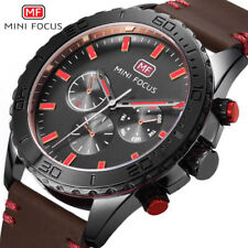 Megir Luxury Brand Chronograph Watch Mens Quartz Leather Sport Wristwatch