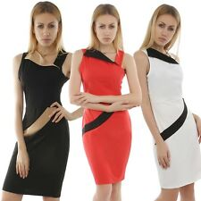 Women Business Slim Midi Pencil Dress for Formal Evening Casual Cocktail Party