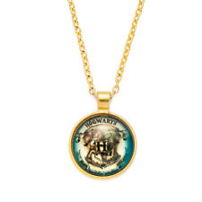 Harry potter Hogwarts badge pendant necklace pendant Zinc Alloy 50cm Gold Chain