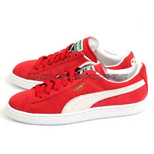 Puma Suede Classic+ Team Regal Red-White Unisex Casual Lifestyle Shoes 352634 05
