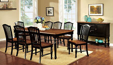 Mayville Dining Table & 8 Side Chairs Dining Room Furniture 9pc Dining Set Black
