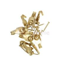 Phenovo 10pcs Picture Frame Hanger Photos Mirror Hooks with 10x Nails Gold