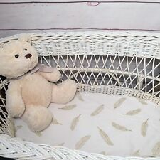 Bassinet, Moses or Boori, Stokke mini cotton fitted sheet silver / gold feathers