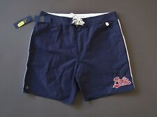 Ralph Lauren Polo Football Athletic Swim Board Varsity Shorts Trunks Size 34 NWT