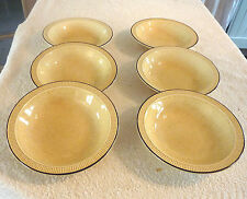 POOLE POTTERY BROADSTONE PATTERN DESSERT / SOUP / CEREAL BOWLS X 6