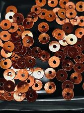 Sequins Tiny 4mm Topaz Bronze Brown Metallic Round Flat Choose Pack Size