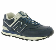 NEU New Balance 574 Men's Shoes Real leather Sneaker Trainers Navy ML574LUB
