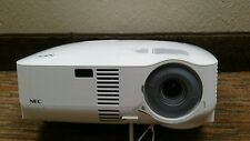 NEC VT 595 LCD Projector w/ 1392 lamp hours used