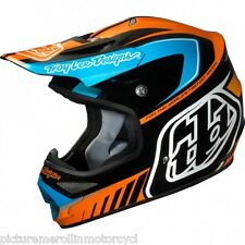 "TROY LEE DESIGNS TLD ""DELTA"" ORANGE AIR MX SX OFF ROAD MOTOCROSS HELMET SIZE L"