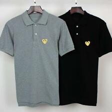 Unisex Japan style Men's CDG Polo Play Comme Des Garcons Gold Heart T-shirt