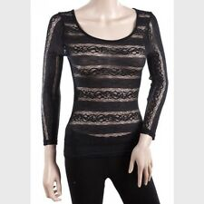 FAST & FREE P&P NEW: Charlotte Russe Ladies Lace Top Black