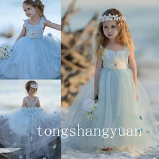Handmade Flower Girl Dresses Princess Birthday Formal Prom Gowns Pageant New Hot