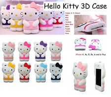 Hello Kitty 3D Cute Cartoon Case Cover For IPHONE 4 5 5c Smart Phone & Androids