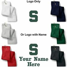 Michigan State Logo Embroidered Golf Sport Towel Reg. or Custom/Personalized
