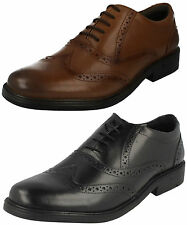 MENS HUSH PUPPIES ROCKFORD BROGUE LACE UP WORK FORMAL LEATHER SMART WIDE SHOES