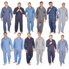Mens Cargo Bay Flannel Or Woven Check Or Stripe Pyjama Set Top & Trousers