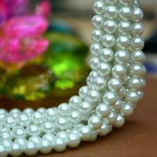 1 Strand Resin Faux Pearl Round Beads White Imitation Pearl 4/6/8/10/12mm