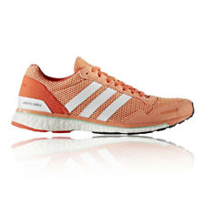 Adidas Adizero Adios Womens Orange Running Road Sports Shoes Trainers Pumps