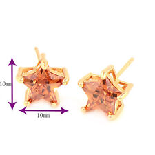 Gorgeous & Shiny Star 18K Gold Plated clear crystal Stud Earrings