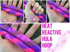 Heat Reactive Polypro HDPE Dance Exercise Hula Hoop COLLAPSIBLE arm hoops