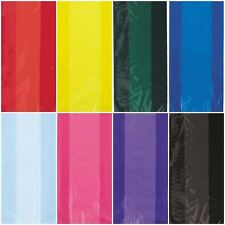 30 Cellophane Bags Gift Loot Party Bag Treat Sweet Ties Birthday Cello Colour
