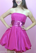 Betsey johnson Evening Pink Derby Strapless Sequin Dress 0 4 Party Cocktail